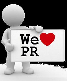 We love PR